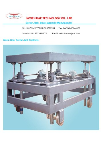 Worm Gear Screw Jack Systems