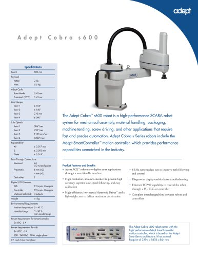 Adept Cobra s600