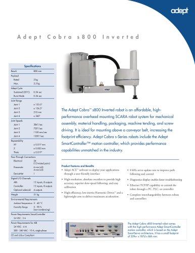 Adept Cobra s800 Inverted