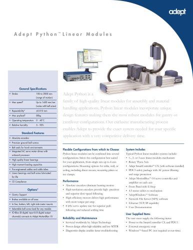 Adept Python Linear Modules (cartesian)