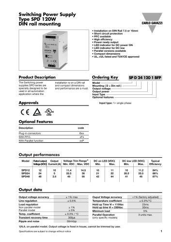 Power Supplies SPD121201FP