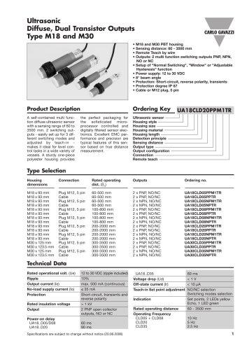 Ultrasonic UA18CLD05NPM1TR