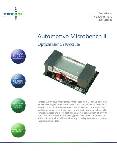 AMBII: Automotive Micro Bench Measures CO, CO2 and HC