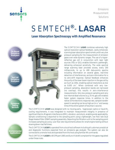 SEMTECH LASAR: Laser Absorption Spectrometer with Amplified Resonance