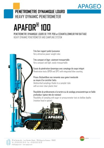 APAFOR 100 - Heavy dynamic penometer