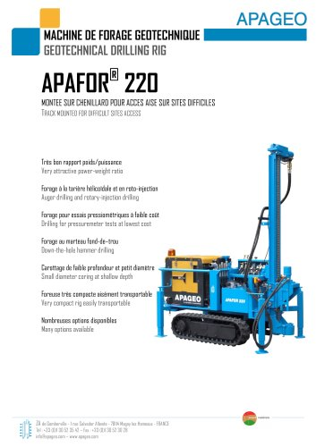 APAFOR 220 - Geotechnical drilling rig