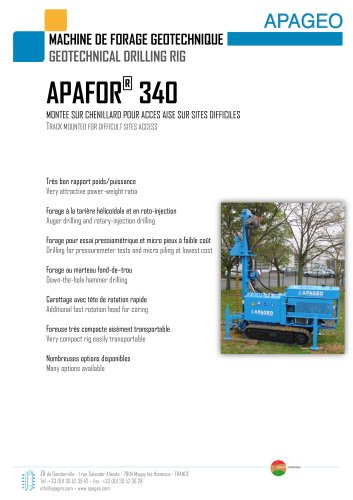 APAFOR 340 - Geotechnical drilling rig