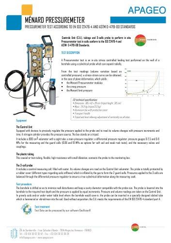 MENARD Pressuremeter