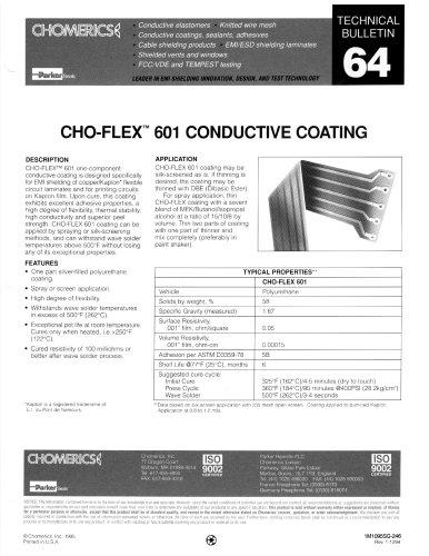 CHO-FLEX 601 Coatings and Inks