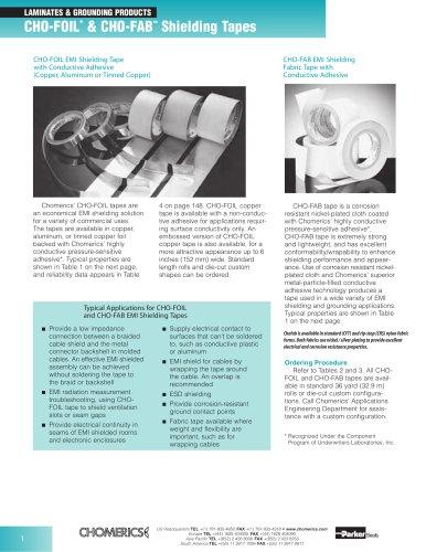 CHO-FOIL® & CHO-FABTM Shielding Tapes