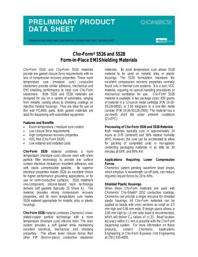 Cho-Form® 5526 and 5528 Form-in-Place EMI Shielding Materials