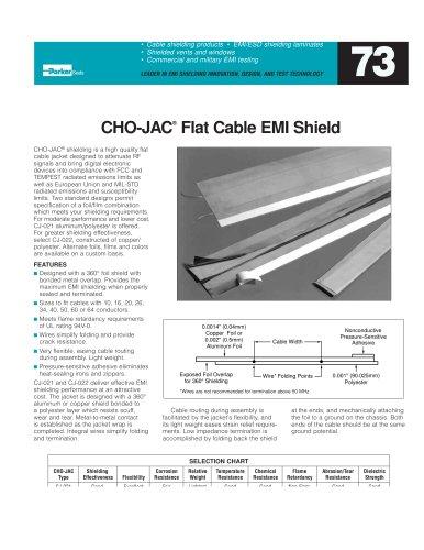 CHO-JAC® Flat Cable EMI Shield