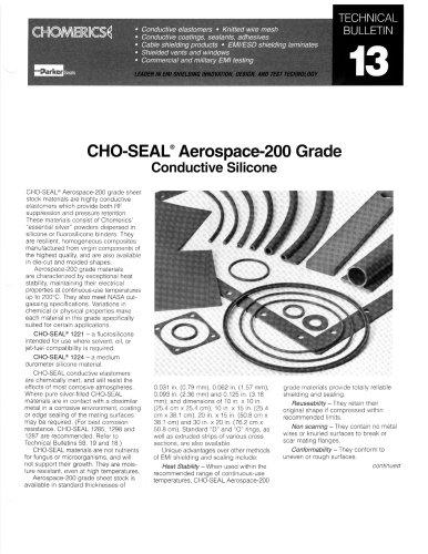 CHO-SEAL 1221 1224 Conductive Elastomers