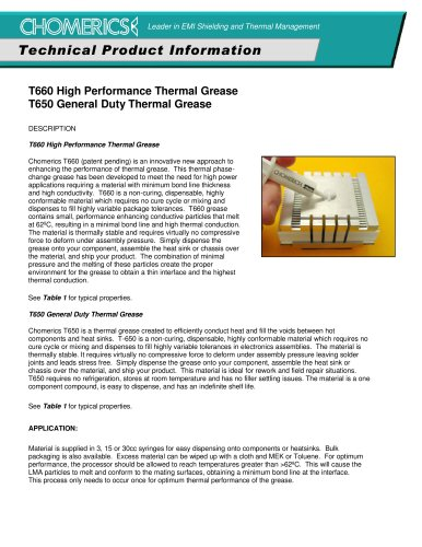 Thermal Management Products & Custom Solutions Catalog