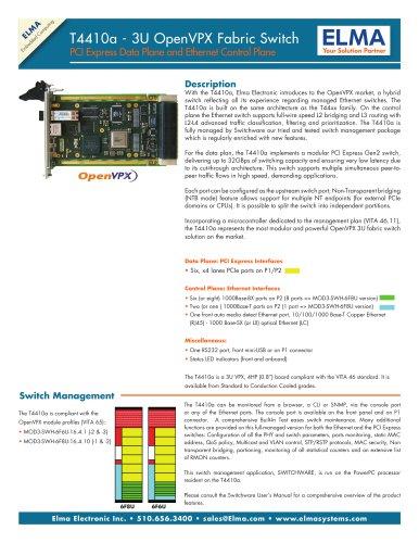 3U OpenVPX Hybrid Switch - T4410a