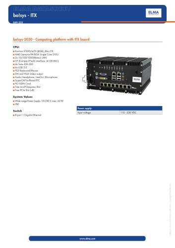 bo!sys-5030 - ITX