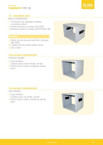 Datasheet Type 38 Cabinet