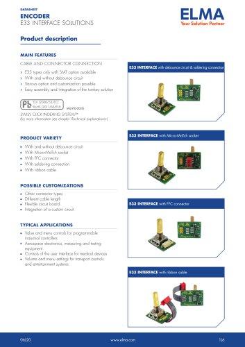 E33 Interface Solution Encoder_Datasheet_E