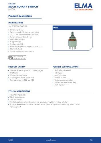 MR50 Multi Rotary Switch_Datasheet E