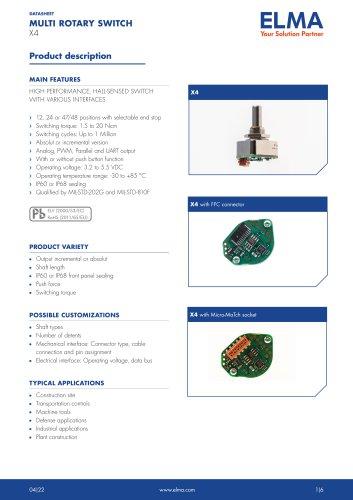 X4 Multi Rotary Switch_Datasheet_E
