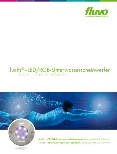 luchs ® LED/RGB underwater spotlights