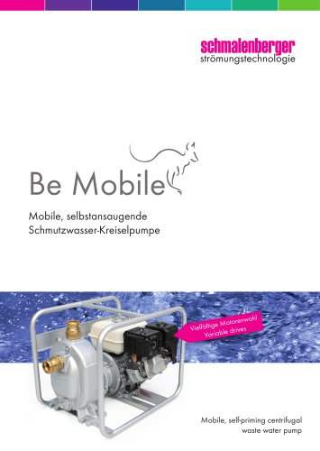 Mobile, self-priming waste water pump