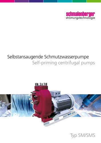 Self-priming waste water centrifugal pumps