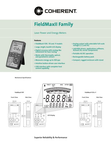 FieldMaxII Meter Family