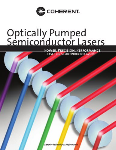 Optically Pumped Semiconductor Lasers