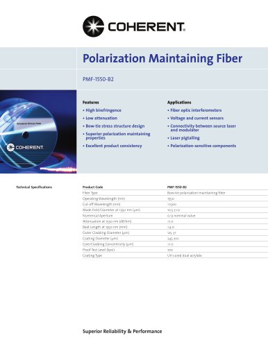Polarization Maintaining Fiber