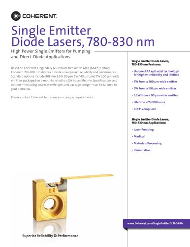 Single Emitter Diode Lasers