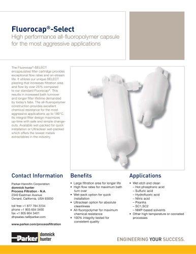 Fluorocap-Select Filter Capsules