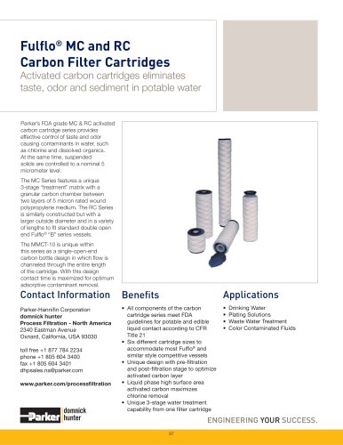 Fulflo MC & RC Carbon Filter Cartridges