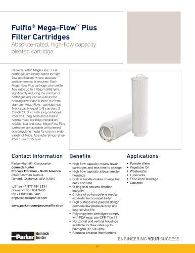 Fulflo Mega-Flow Plus Filter Cartridges