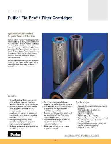 Fulfo Flo-Pac+ Filter Cartridges