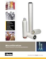 Microfiltration Filtration Products for Food and Beverage Applications