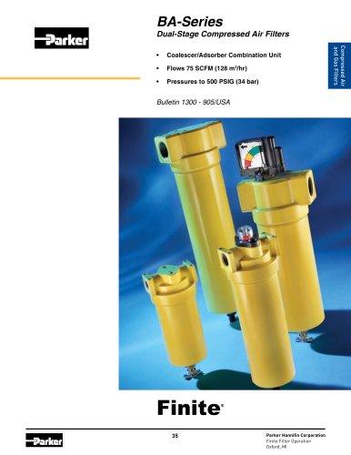 BA-Series Dual-Stage Compressed Air Filters