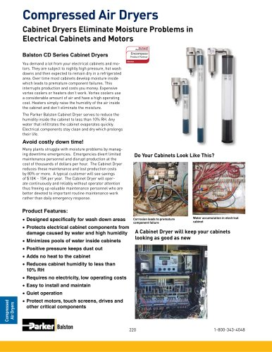 Cabinet Dryers Eliminate Moisture Problems in Electrical Cabinets and Motors