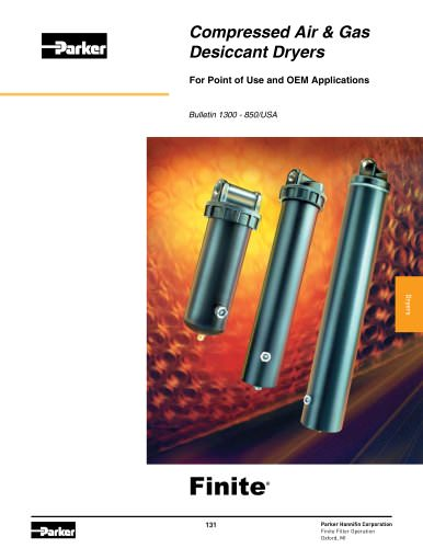 Compressed Air & Gas Desiccant Dryers