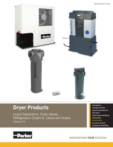 Dryer Products: Liquid Separators, Drain Valves, Refrigeration Dryers & Desiccant Dryers - Catalog 0722