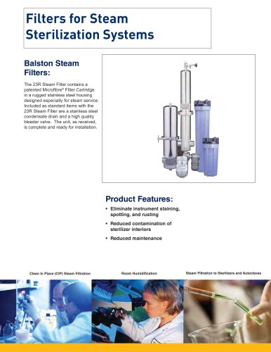 Filters for Steam Sterilization Systems