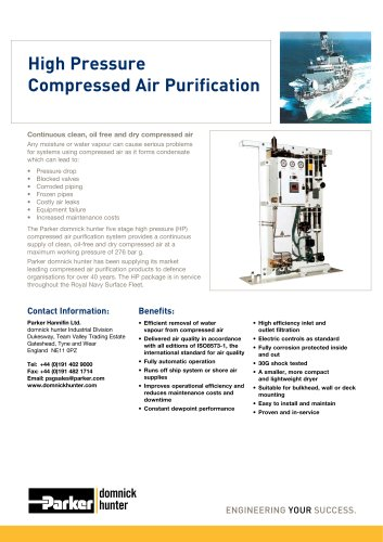 High Pressure Compressed Air Purification
