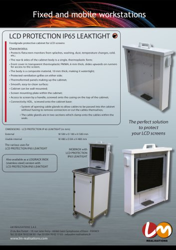 LCD PROTECTION ETANCHE IP 65