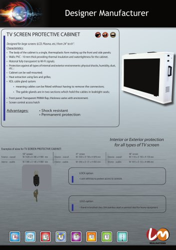 TV SCREEN PROTECTIVE CABINET