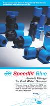 JG Speedfit® Blue - A new improved range of Push Fit Fittings for Cold Water Services - 2
