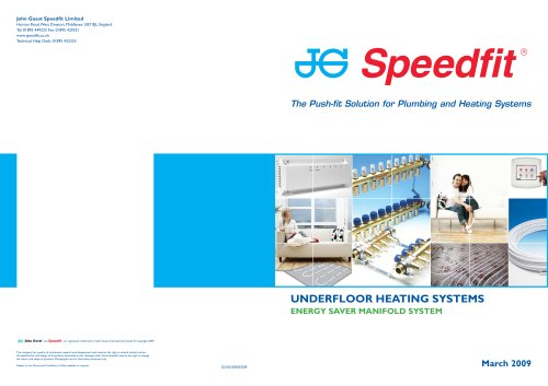JG Speedfit ® Underfloor Heating Systems - Energy Saver Manifold System