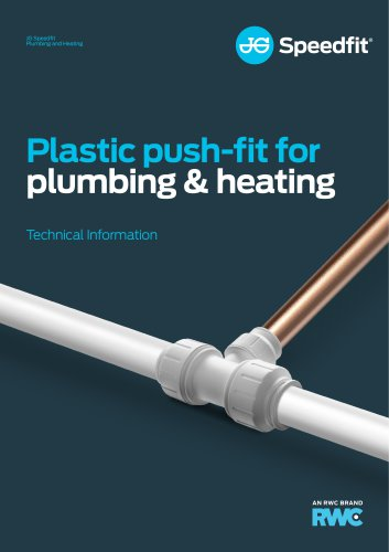 Plastic push-fit forplumbing & heating
