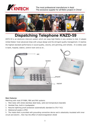 Desk top telephone KNZD-59 analogue
