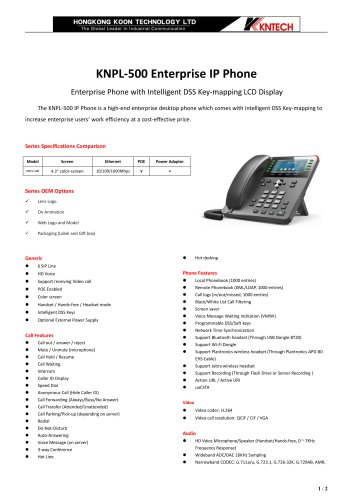 High-end speed dial IP telephone KNPL-500