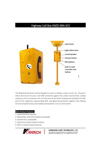 Highway Call Box KNZD-09A-SC5